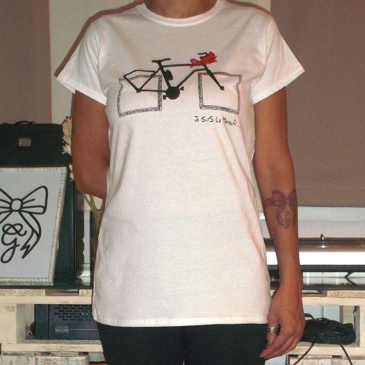 Camiseta Bicicleta Ruedas Cuadradas