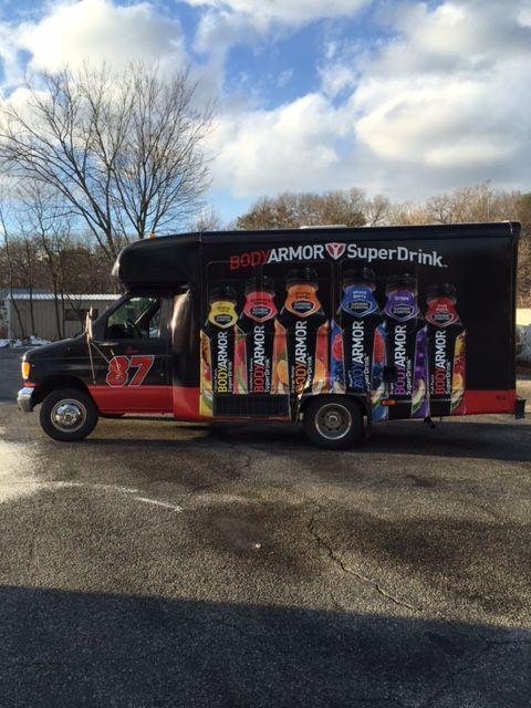 Gronk Party Bus Body Armor Vehicle Graphics Sponsor Signage