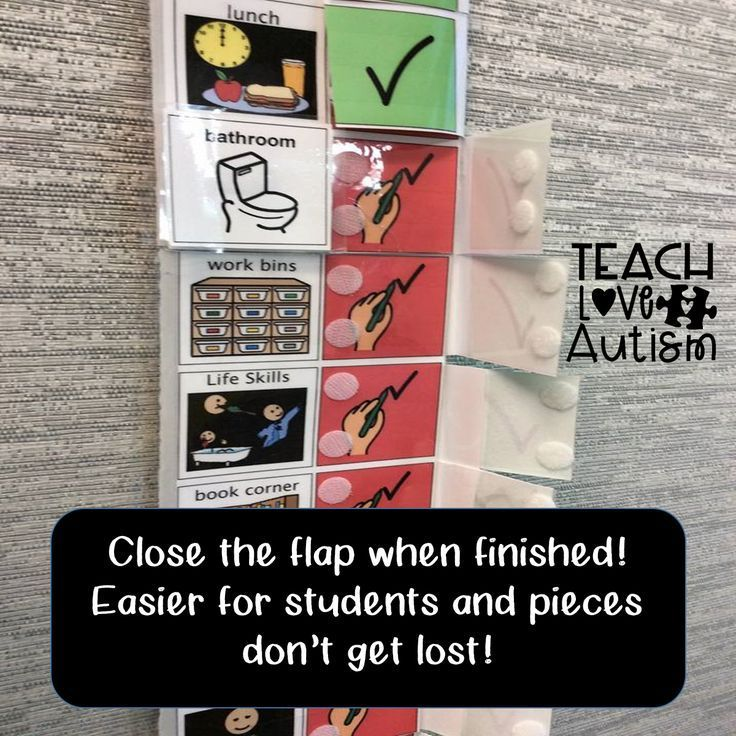Visual Flip Schedule for students in special education
