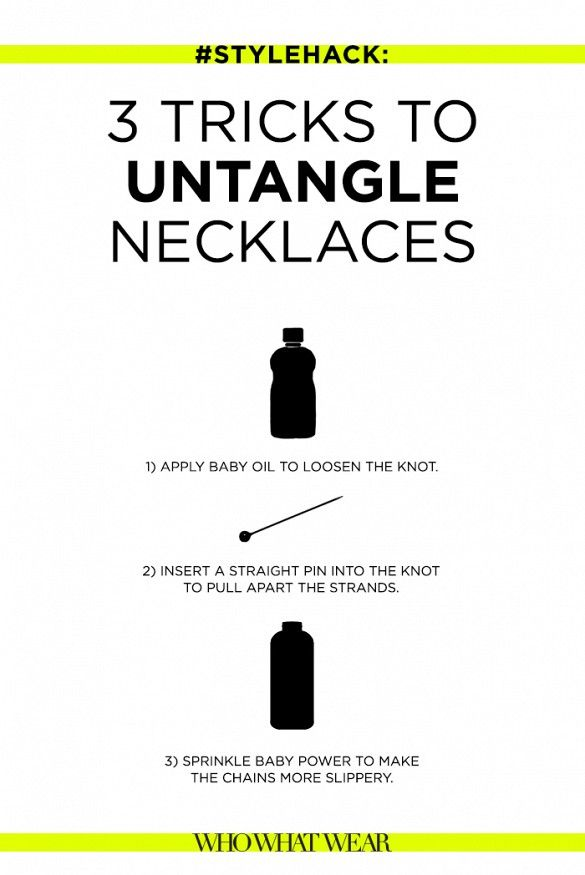 how to untangle necklaces // so good!