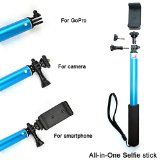 """Ace3C 39"""" Ultimate Monopod All-in-One Selfie Stick for GoPro Camera, Sony Action Cam, Cell Phone & Digital Camera. Including GoPro HD Hero 4 3+ 3 2 Hero, Sony Action Cam HDR AS15 AS30V AS100VR AS100V AZ1VR AZ1, SJ4000, iPhone 6 (Plus) 5S 5C 5 4S 4 ipod, Samsung Galaxy S6 S5 S4 S3 S2, Note 4 3 2, LG G3 G2, Motorola, HTC, Sony, Nokia, Canon Nikon Sony Panasonic Olympus and More (Sky Blue) -  Brand: Ace3CPrice: $55.99    All-in-One Design: Cell Phone/GoPro/Camera all mo"""