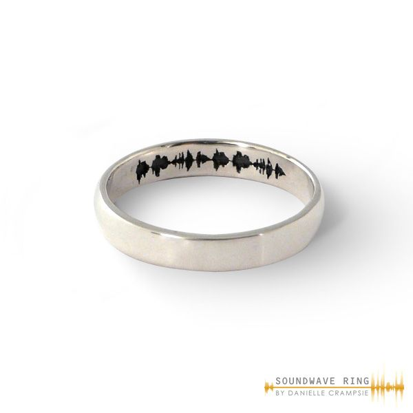 Custom Soundwave Ring Sterling Silver In 2018 Beach Hair Rings