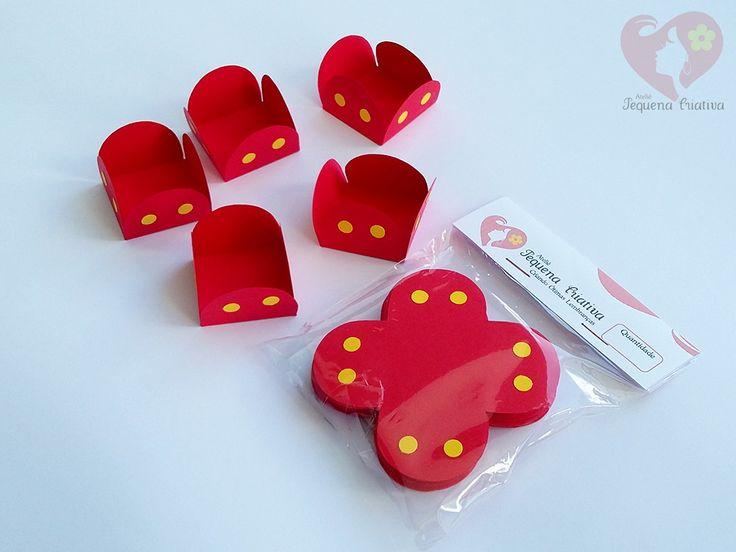 Forminha para doces no tema Mickey, em papel color plus 180gr.