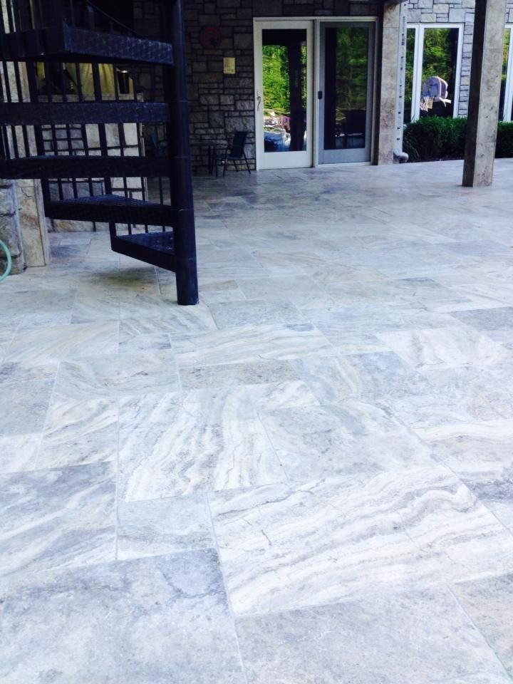 Silver French Pattern Travertine Pavers For More Info