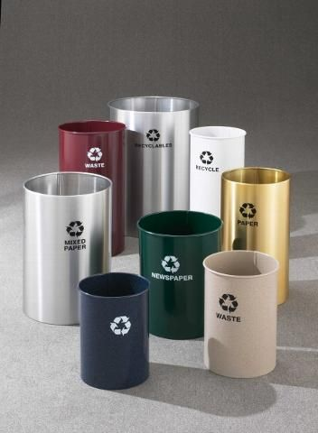 glaro recycling trash can outdoor u0026 indoor trash cans recycle bins u0026 ashtrays for commercial office or home