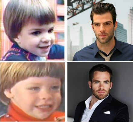 Baby Zach Quinto and baby Chris Pine