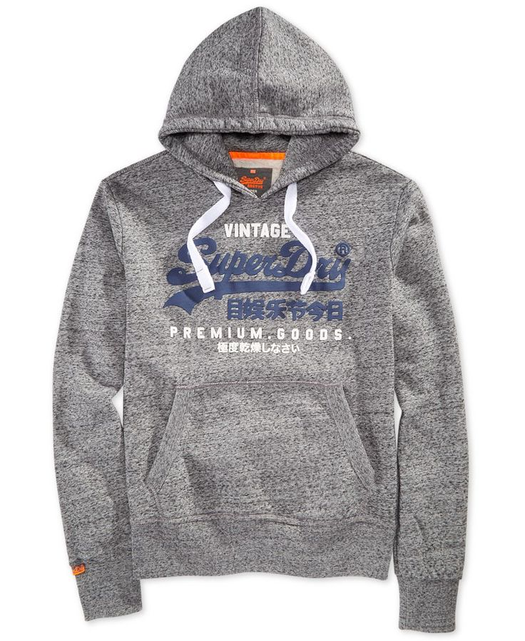 Superdry Men's Premium Goods Duo Graphic-Print Logo Hoodie