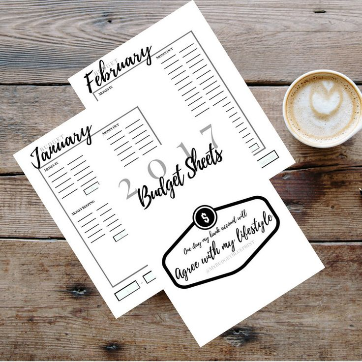 Monthly Budget Printable - Instant Download by MyBudgetBlueprint on Etsy https://www.etsy.com/ca/listing/475839388/monthly-budget-printable-instant