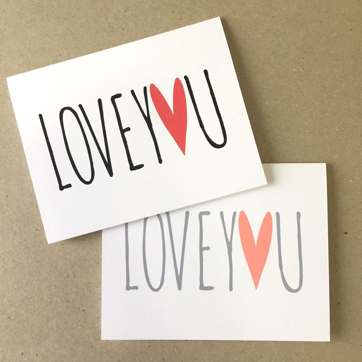 Valentine's Day Card - Love You - Valentine for Husband - Valentine for Wife - Valentine for Kids - Love You Card - Red Pink Valentine Card