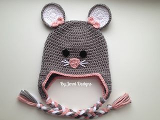 Mouse Hat pattern by Jenni Catavu