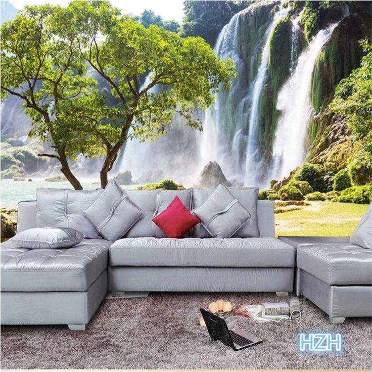 Barato Sob encomenda da foto papel de parede 3D grande sala de estar…