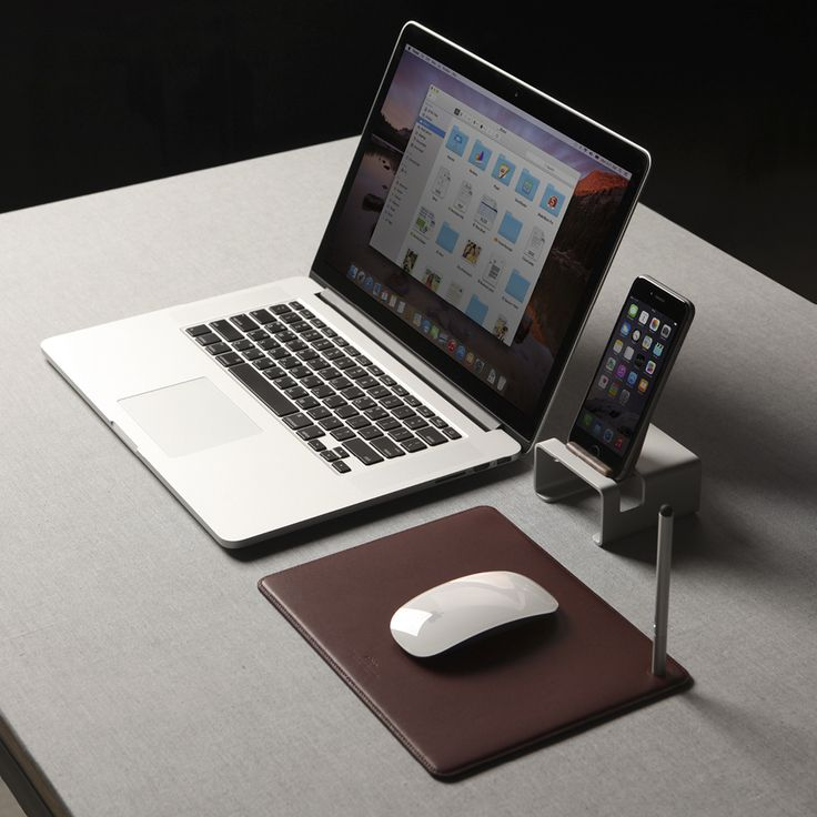 Genuine leather mouse pad / Burgundy