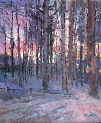 Winter Twilight 36 x 30 by Don Sahli Oil ~ x