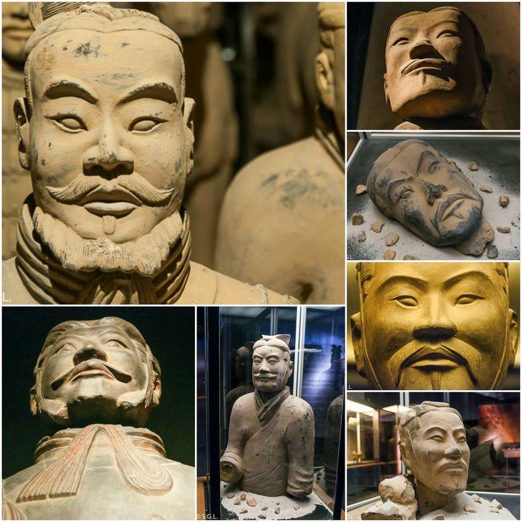 Caras de los soldados de Terracota