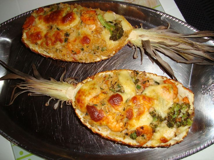 Receita de Camarão no abacaxi. Enviada por Rosane santos vargas e demora apenas…