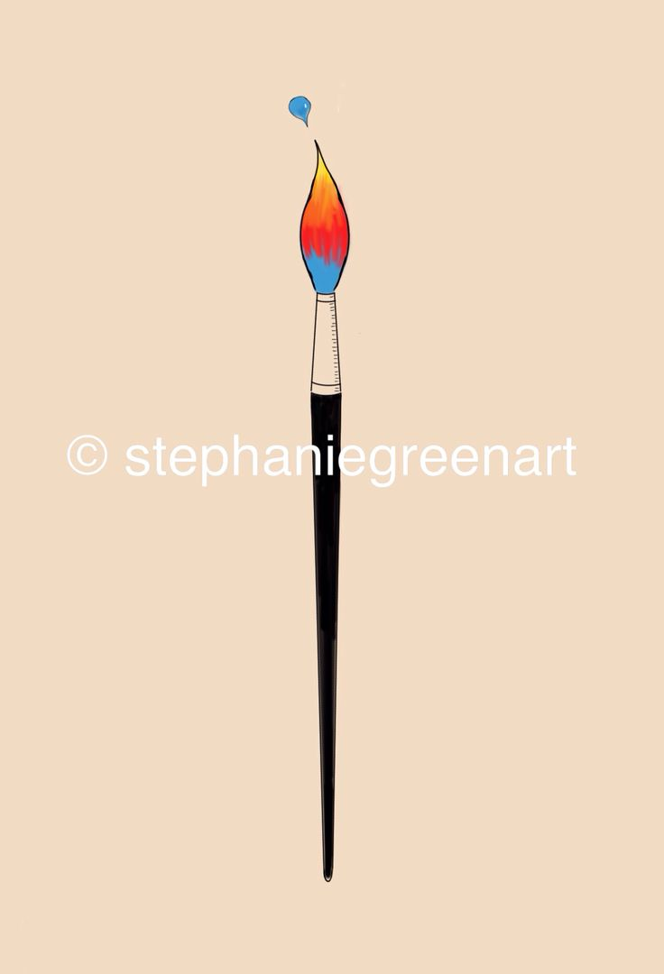 paintbrush drawing tumblr. paintbrush with a flame for brush end because i drawing tumblr f