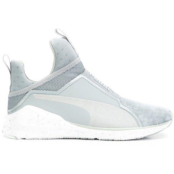 Puma 'Fierce' sneakers ($140) ❤ liked on Polyvore featuring shoes, sneakers, grey, puma sneakers, puma footwear, grey sneakers, puma trainers and gray sneakers