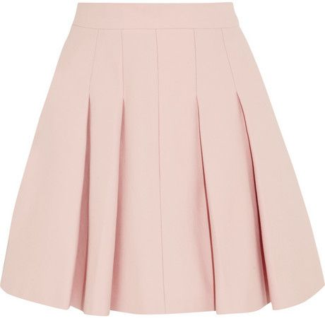 REDValentino Pleated stretch-cotton mini skirt