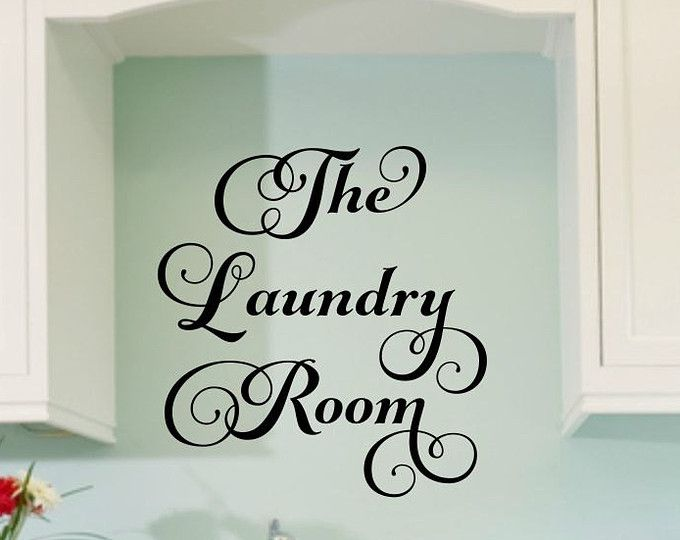 The Laundry Room Vinyl Wall Decal Large Vinyl Decor Laundry Housewares Home  Decor Laundry Decal Laundry Room Decal Wall Decal Wall Decor Part 55