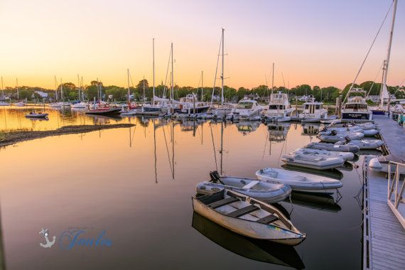 Wickford Evenings  Wickford Rhode Island by PhotographsbyJoules