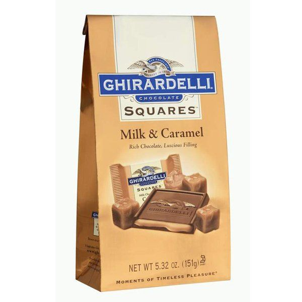 Ghirardelli Chocolate Squares Milk Chocolate With Caramel Filling Bags