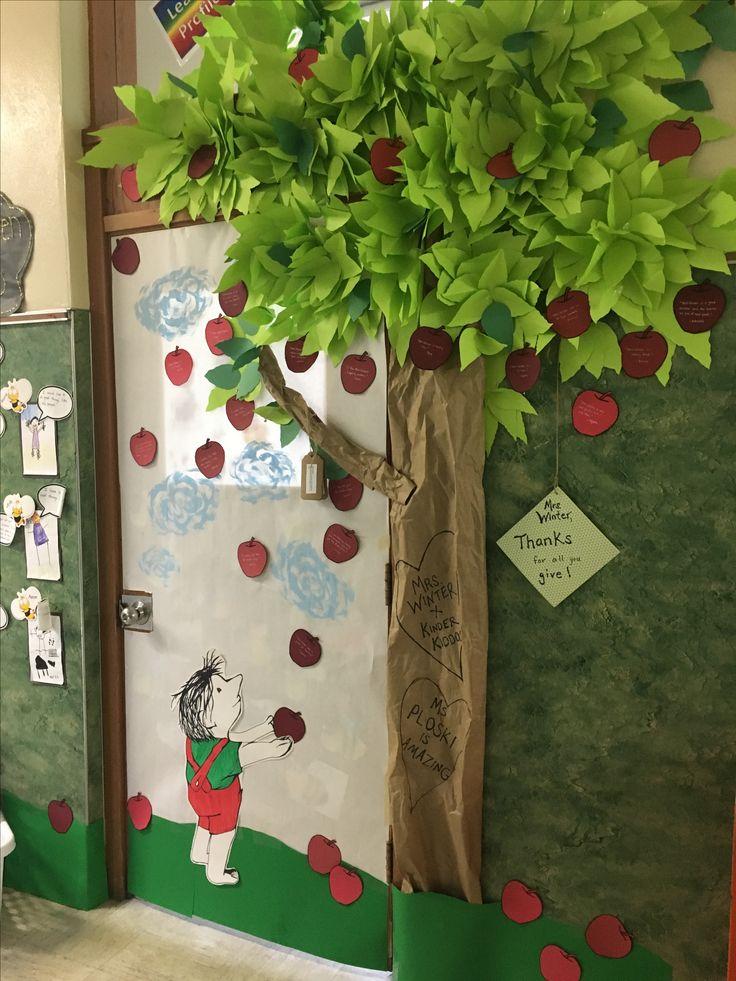 Classroom Giving Tree Ideas ~ Best ideas about teacher door decorations on pinterest