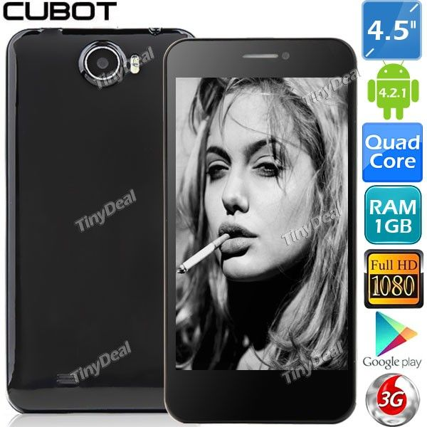 "(CUBOT) GT99 4.5"" IPS Capacitive Touch Screen MTK6589 4-Core Android 4.2.1 3G Smart Phone+ 6MP CAM(1GB RAM+ 4GB ROM) P05-GT99 - tinydeal.com"