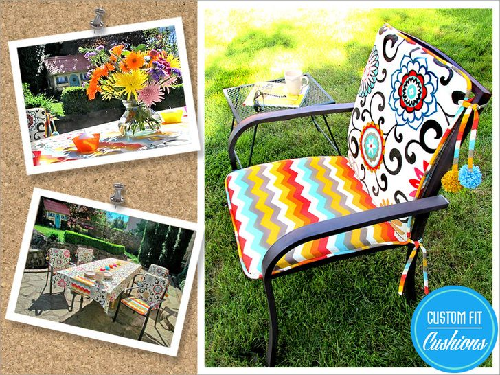 Outdoor Chair Cushions With Pom Ties Part 70