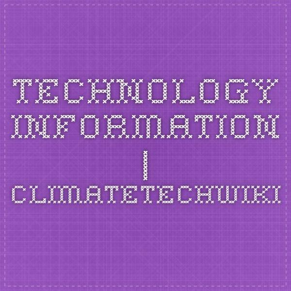 Technology Information | ClimateTechWiki