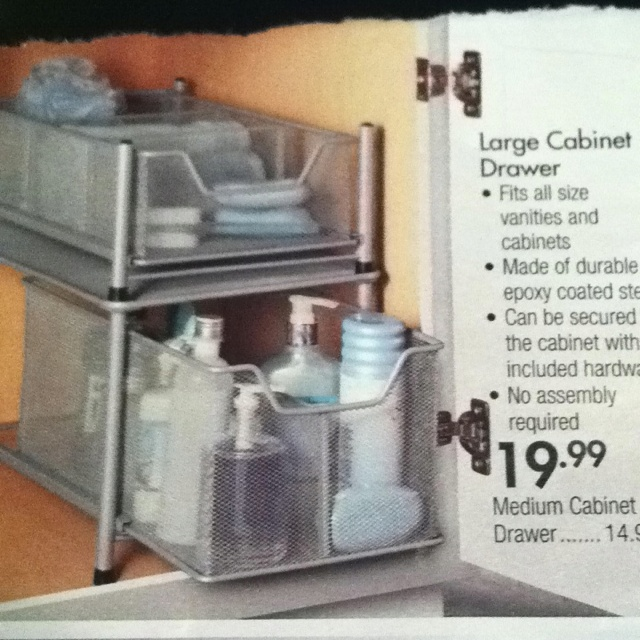 Bathroom Cabinet Organizer Bed Bath And Beyond I Have This In Ella S