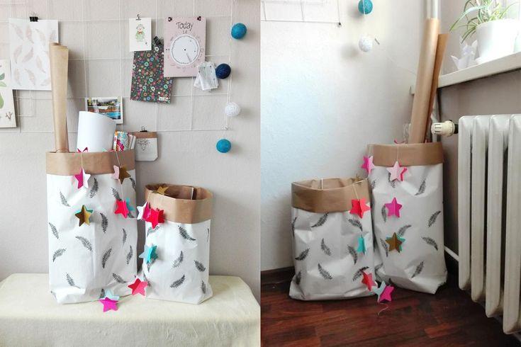 papierowa torba DIY