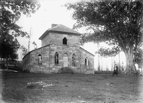 Old Convict Cells in Gosford,Central Coast of New South Wales in 1900.