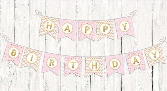 INSTANT DOWNLOAD Printable Birthday Party Banner Digital