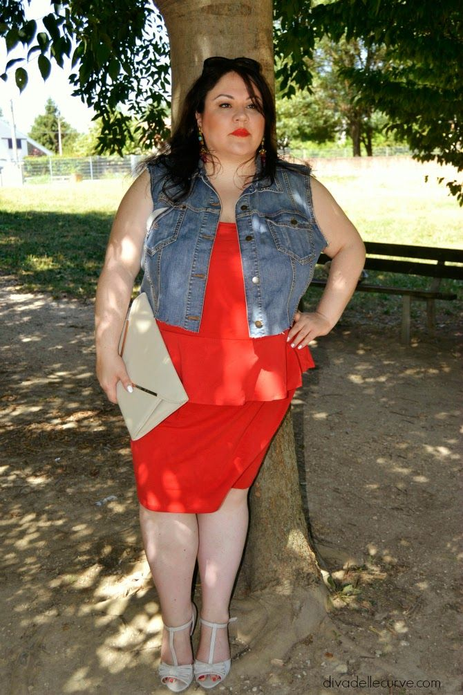 Plus Size Outfit With Peplum Dress More Pictures At Http