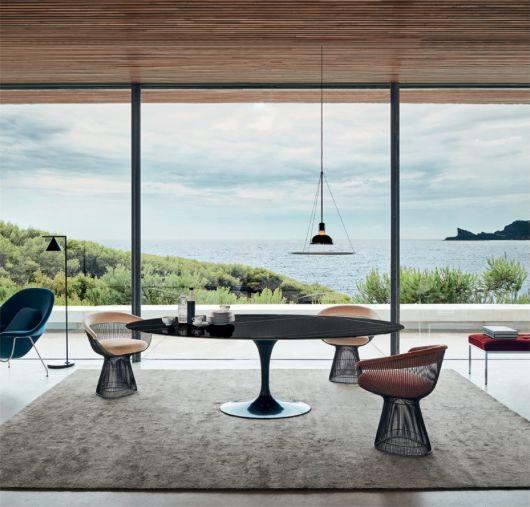 table salle a manger knoll table ovale marbre noir blog. Black Bedroom Furniture Sets. Home Design Ideas