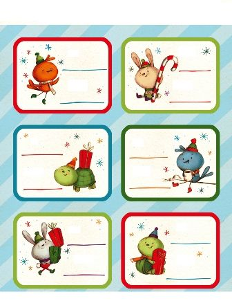 Různé vánoční jmenovky zdarma