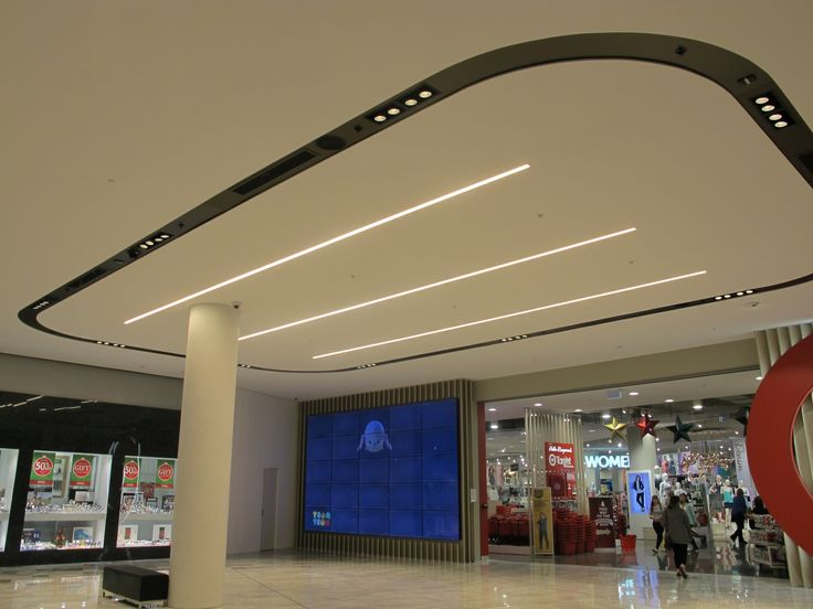 Recently completed stages at Eastland Shopping Centre. Fantastic result and very fast install by electrical contractors, Stowe. Specialist lighting design by NDY Group & Electrolight utilising DARKON products - SLIM C, SLIM TRIM & recent award winner TUBE.