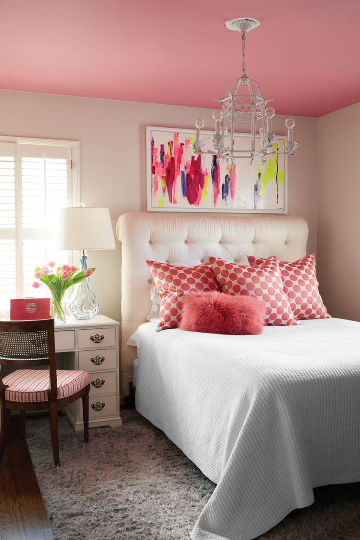 pink and white bedroom. | bed | pinterest | bedrooms, room and
