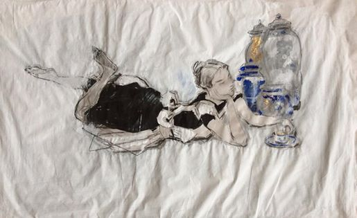 Drawing of Michał Zaborowski, 2014