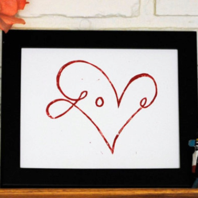 Love heart for #Valetines (no blog or tutorial attached just need to make on your own)