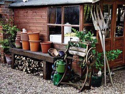 Строительство сарая под садовый инвентарь