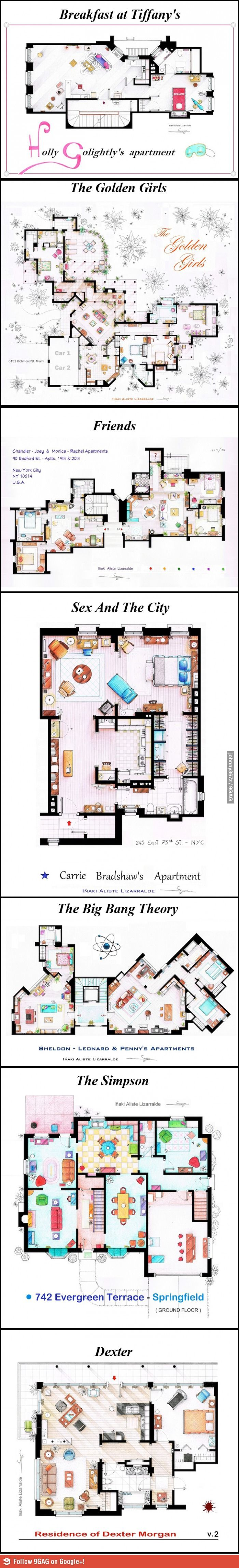TI've always wanted to see the layout of The Golden Girls house...Its not exactly how I pictured it.