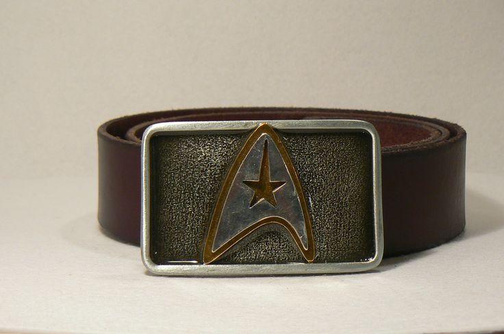 handcrafted star trek buckle