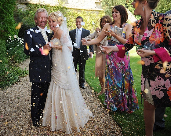 Former Radio 1 dj & game presenter, Noel Edmonds married for the third time, to his make-up artist, Liz Davies, in 2009.