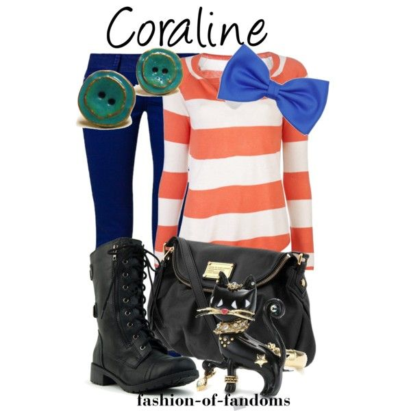 Coraline, created by fofandoms on Polyvore