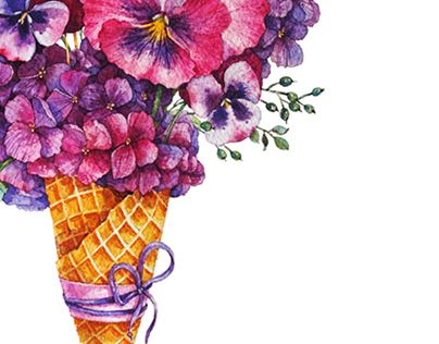 """Check out new work on my @Behance portfolio: """"Pansies_Watercolor"""" http://on.be.net/1jDjQPX"""