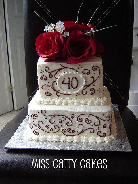 40th Wedding Anniversary Cake Decorations | Recent Photos The Commons Getty Collection Galleries World Map App ...