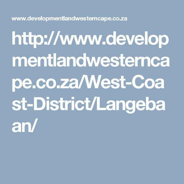 http://www.developmentlandwesterncape.co.za/West-Coast-District/Langebaan/
