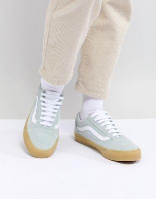 4b320cfc90 Vans Old Skool Pastel Mint Sneakers With Gum Sole