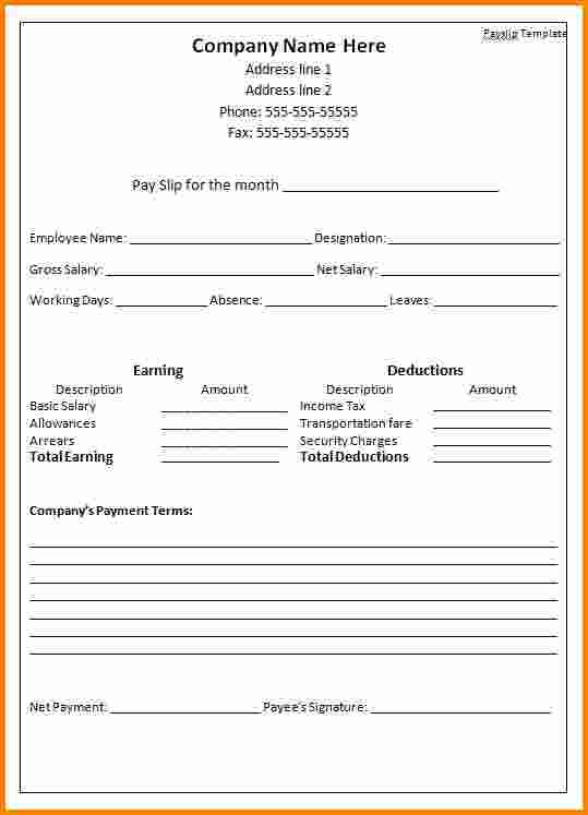 4 easy payslip template rsvp slip template News to Go 3 Pinterest